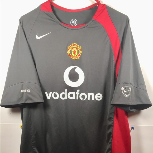 buy popular d311a f96d7 Nike Manchester United Soccer Jersey Gray/Red Sz L